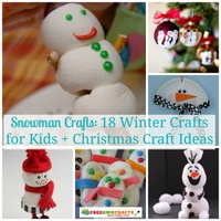 Snowman Crafts: 18 Winter Crafts for Kids + Christmas Craft Ideas