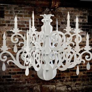 Elegant Silhouette DIY Chandelier