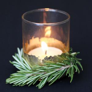 Ravishing Rosemary and Gold Votives