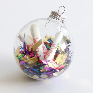New Year's Resolution Time Capsule Ornament