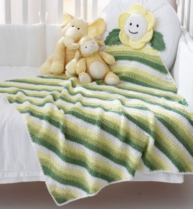 Natural Daisy Baby Blanket