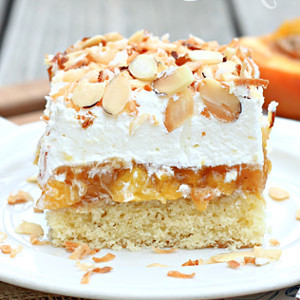 Better Than Anything Peach Poke Cake