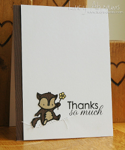 Cute Critter Clean and Simple Card