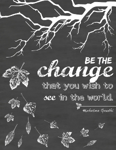 Chalkboard Wall Art be the change chalkboard printable wall art | allfreepapercrafts