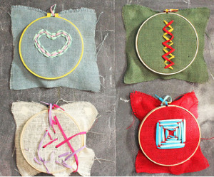 Burlap Embroidery for Kids