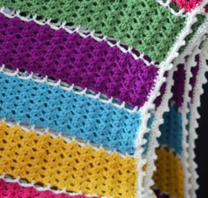 Jeweled Lattice Afghan