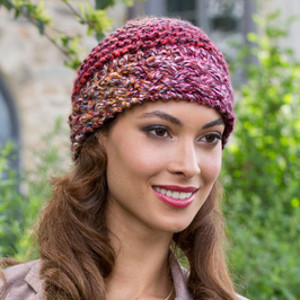 Knit Patterns For Hats For Cancer Patients : Berries Blast Beanie AllFreeKnitting.com