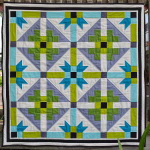 Bright Geometric Baby Quilt