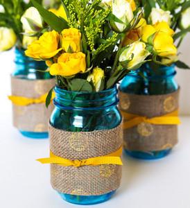Summer Windchimes Mason Jar Centerpiece