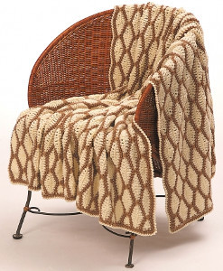 Chesnut Ripples Afghan