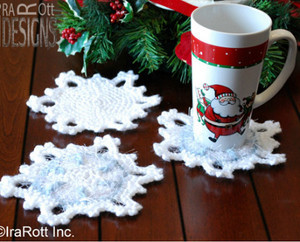 Pretty Snowflake Coaster