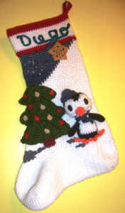 Especially Intricate Penguin Stocking