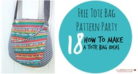 Free Tote Bag Pattern Party: 18 How to Make a Tote Bag Ideas