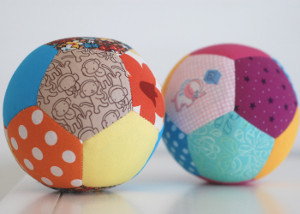Quilted Patchwork Play Balls