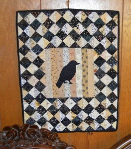 Retro Raven Wall Quilt