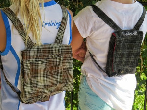 Mini Backpacks from Upcycled Shorts
