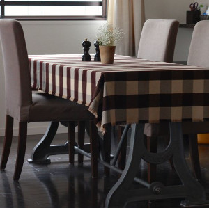 No Sew Flannel Table Cloth