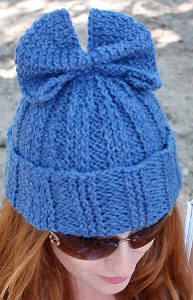 Super Simple Knit Bow Hat