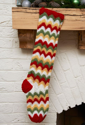 Zigzag Christmas Stocking