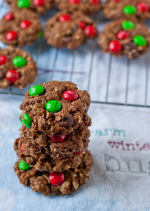 Chocolate Christmas Monster Cookies