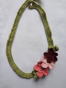 Blooming Marvelous Crochet Flower Necklace