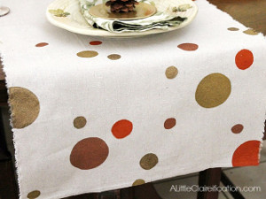 Just Dotty Thanksgiving Table Runner
