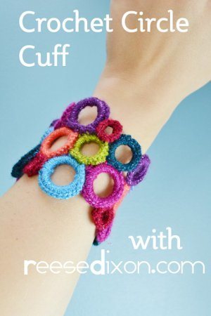 Cotton Candy Dreams Crocheted Cuff