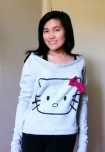 Off the Shoulder Kitty Sweatshirt
