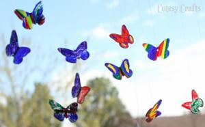 Unexpected Butterfly Suncatchers