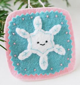 Sweet Felt Snowflake Ornaments