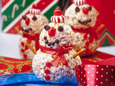 Crispy Snowmen Treats Mrfood Com