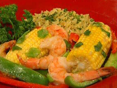 Shrimp and Corn Packets