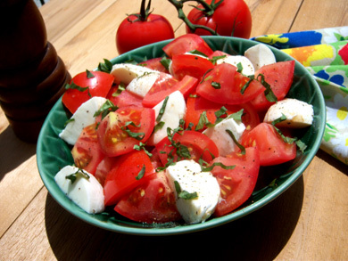 Fresh Tomato Mozzarella Salad