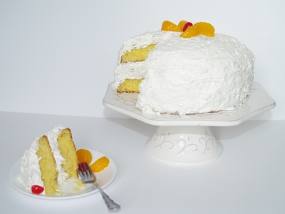 Aunt Betty's Gussied-Up Orange Cake