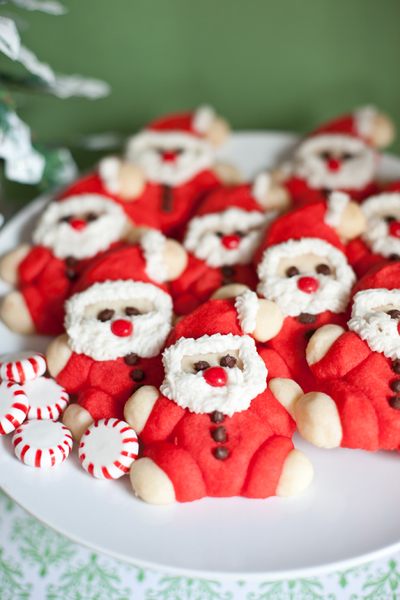 Festive Roly-Poly Santa Cookies