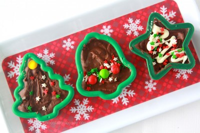 Christmas Cookie Cutter Fudge