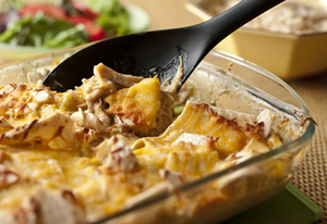 Cheesy Chicken and Tortillas Casserole