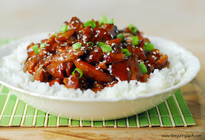Honey Barbeque Sesame Chicken