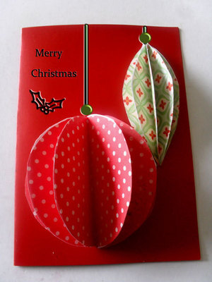 Easiest 3D Ornaments Christmas Card