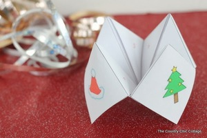 Free Printable Christmas Cootie Catcher