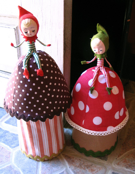 Whimsical Toadstool Doorstop
