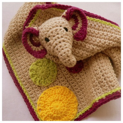 Darling Elephant Crochet Lovey