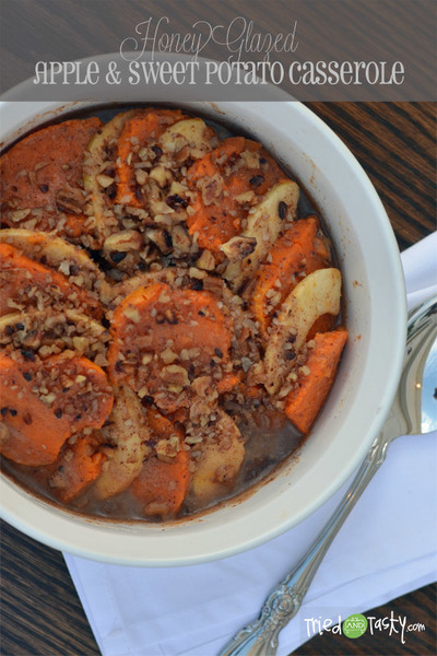 Honey Glazed Apple & Sweet Potato Casserole