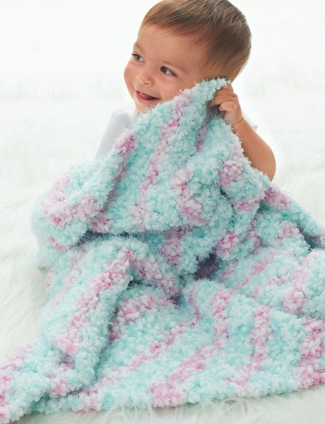 Cotton Candy Crochet Baby Blanket full