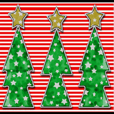 Starry Christmas Trees Printable IMR