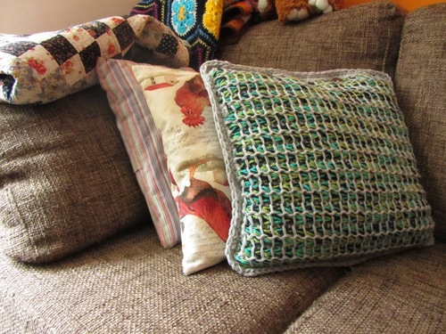 Tunisian Style Pillow Cover