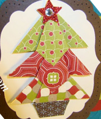 DIY Folded Christmas Tree Embellishment IMR