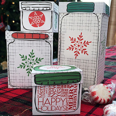 Seriously Awesome Printable Mason Jar Gift Boxes IMR