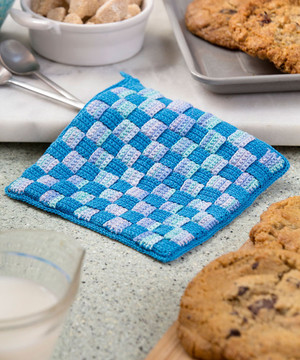 Milk & Cookies Crochet Hotpad