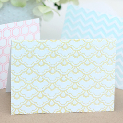 Embossed Faux Letterpress Cards IMR